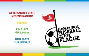 Hamburgs Fußball zeigt Flagge gegen Rassismus und Gewalt